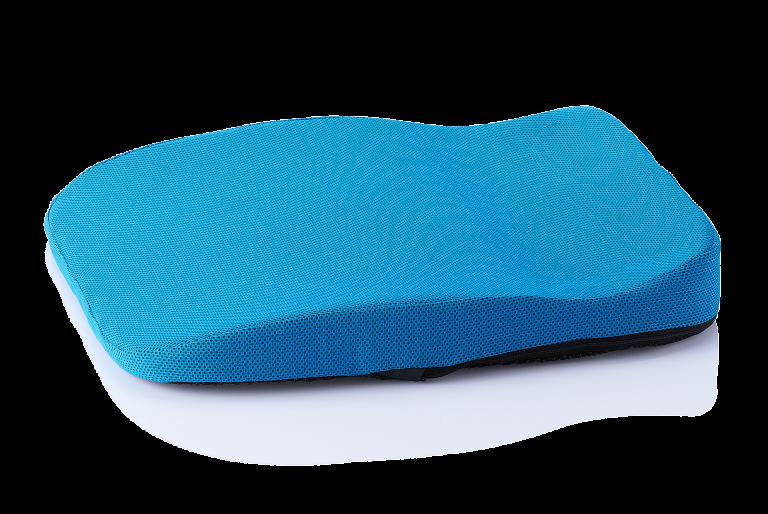 orthopaedisches Hüftkissen Sitzkissen mobil/auto blau seitlich