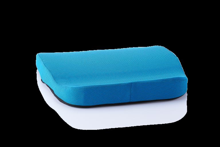 orthopaedisches Sitzkissen hueftkissen mobil/auto blau rueckansicht
