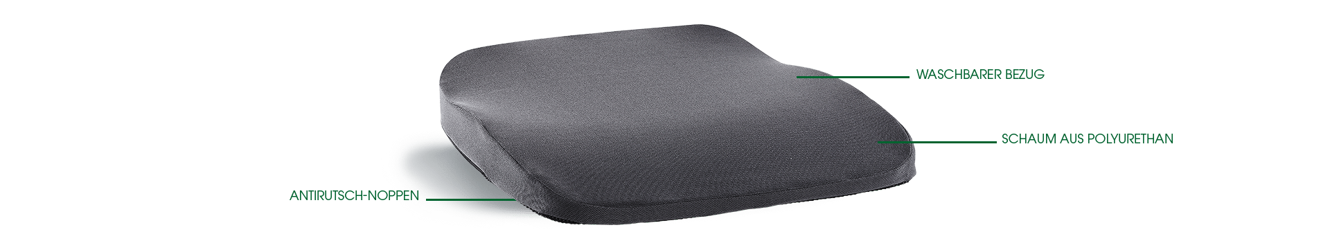 orthopaedisches Sitzkissen hueftkissen auto bus flugzeug grau beschreibung